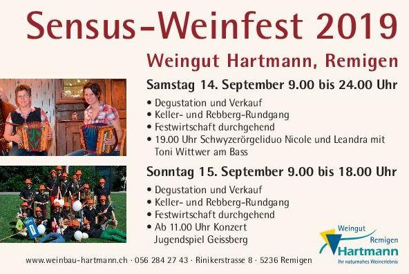 Flyer Sensus Weinfest A5 19